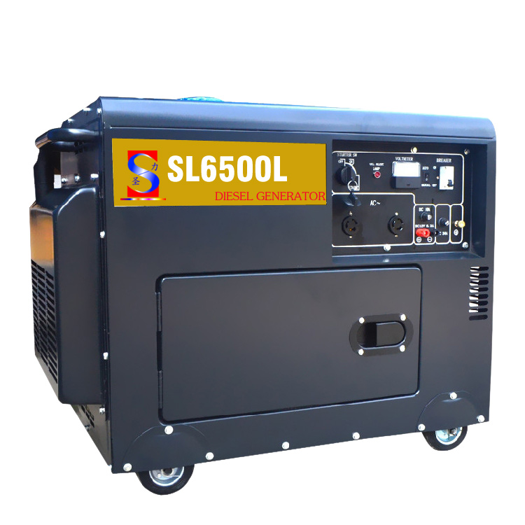 5KW 6.5kva silent diesel generator set small power home used soundproof low price air-cooled diesel generator