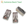 100% cotton compressed towel for beach