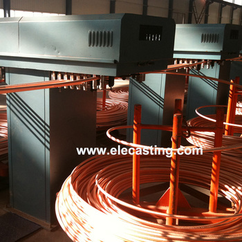 8mm brass rod upward continuous casting machine system