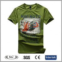 trendy usa 100% cotton man motor print china led t-shirt