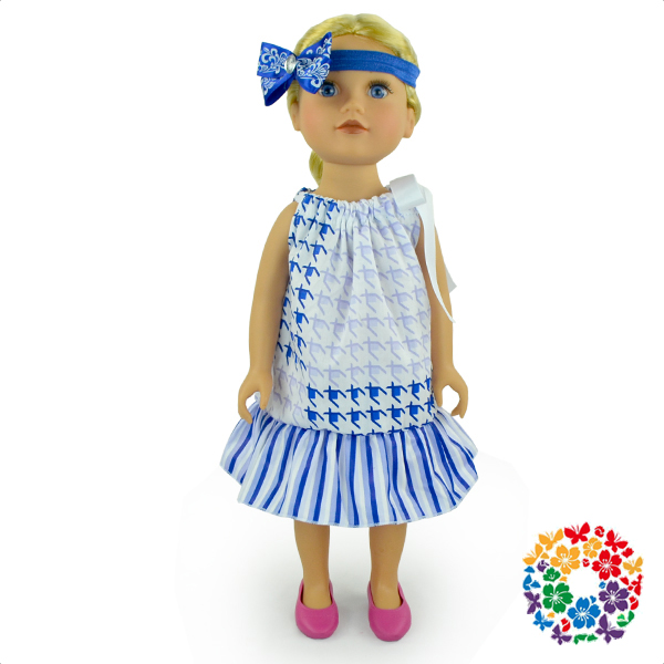 Hot sale 18 inch cotton realistic dolls american girl clothing ,american girl doll wholesale clothing dress