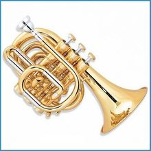 cupronickel slide mini trumpet C key, pocket trumpet, hand trumpet