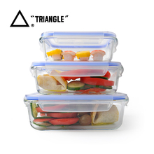 2017 New Selling air-tight glass food storage container set