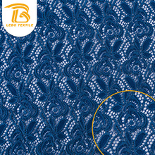 Wholesale Raschel Polyamide Big Royal Blue Lace Fabric