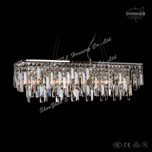 2014 Modern Square Crystal Pendant Lamps For Hall Room