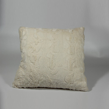 White christmas long pile plush PV Fleece cushion