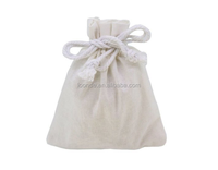 custom printed white color calico drawstring dust bag
