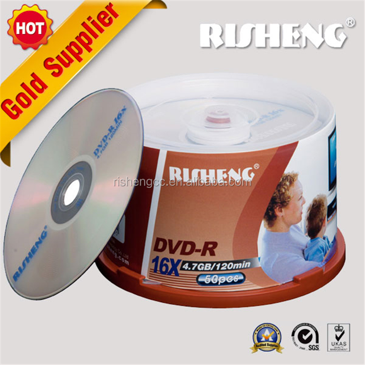 RISHENG 4.7GB wholesale blank disc car dvd price/ dvd-r for sale
