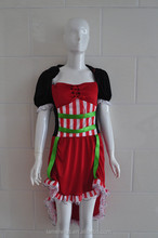 black with red women party or cosplay dress fancy dress for young ladies sexy maid costumes SD00125