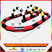 2016 Interactive inflatable car race track,mini car race track for kids