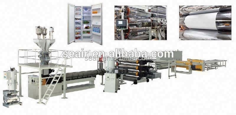 ABS/PS/HIPS&PMMA Refrigerator sheet plastic sheet extrusion plastic plate making machine,profile machine