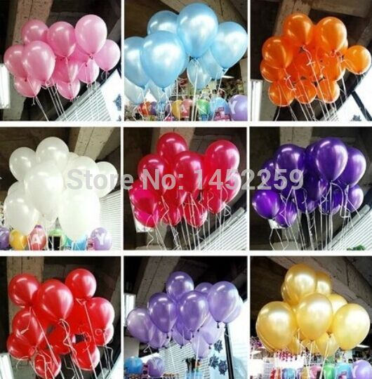 100pcs / pack 10inch helium / latex balloon air balls inflatable toy wedding party decoration happy birthday