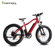 Aimos carbon-fiber-electric-bike-350w-brushless full suspension carbon frame, electric fatbike