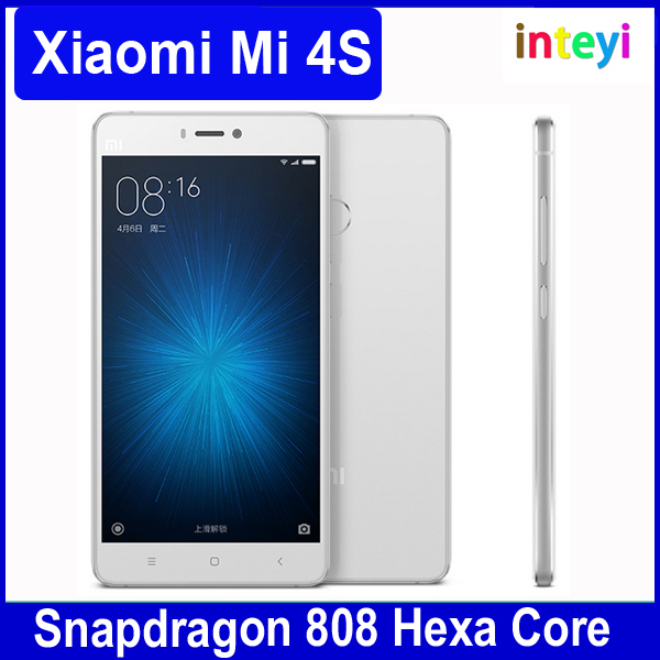 "Original Xiaomi Mi 4s Snapdragon 808 Hexa Core Cell Phone 5.0"" inch 1920*1080P 13MP 16GB/64GB ROM Fingerprint ID Quick Charge"