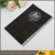 Hard plastic notebook cover diary cover for wholesale A5 polyester fabric book cover with transparent PVC window