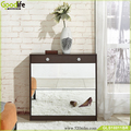 Elegant shoe rack with mirror door living room furniture save space