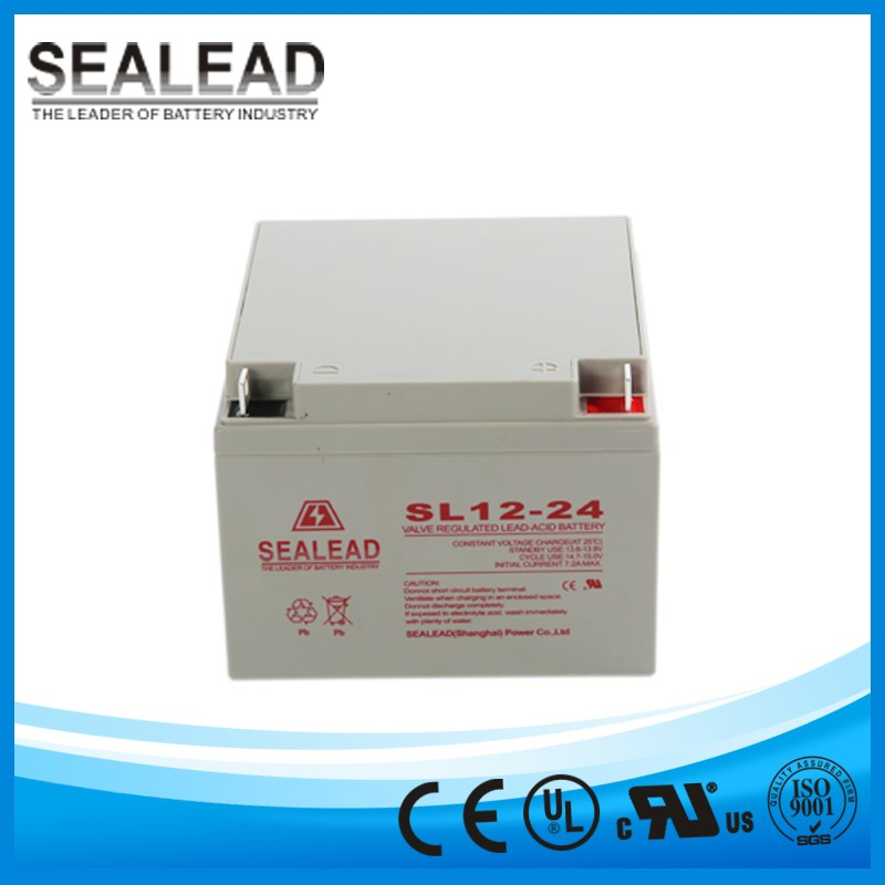 Rechargeable battery 12v 24ah solar storage battery from Guangdong Manufacturer
