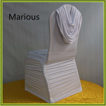 200gsm Lycra spandex ruched chair cover for wedding