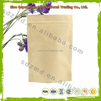 Stand up kraft paper bag heat seal with zipper and window