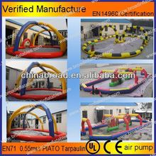 Durable and zorbing track,zorb ball track,adventure inflatable track race