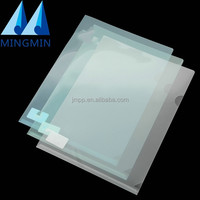 Top grade customized a4 size transparent sheet L shape office filing document plastic file folder