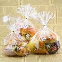 snack food packaging toast/puff/French bread clear plastic cookies packaging bag