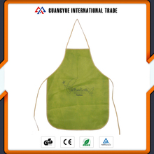 Guangyue 2017 New Arrivals Pp Non Woven Custom Printed Cooking Disposable Aprons