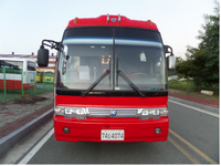 High quality kia brand Used Coach bus for sale red 41 - 60seats