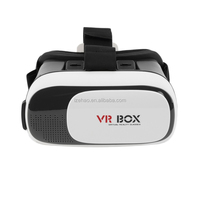 "VR BOX 2.0 Version Head Mount Plastic Virtual Reality Glasses 3D Game Movie for 3.5"" - 6.0"" Smart Phone"