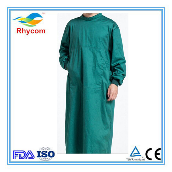 Hot sale medical and surgical gown 100% cotton cloth gown