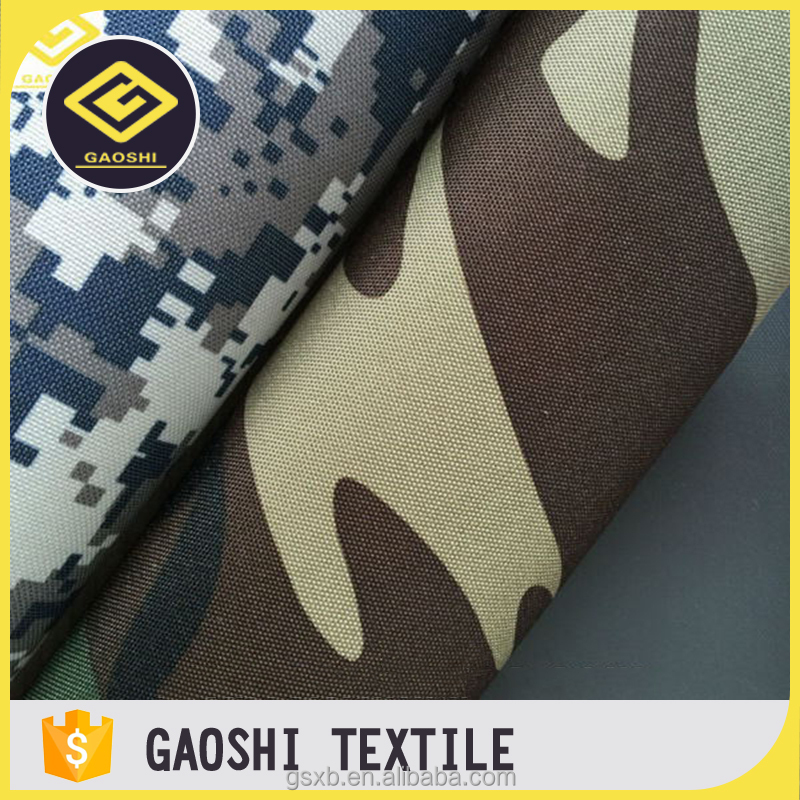 New Designed OEM Service 600D Polyester Camoflage Printed Oxford Mattress Cover Fabric With PVC Backing