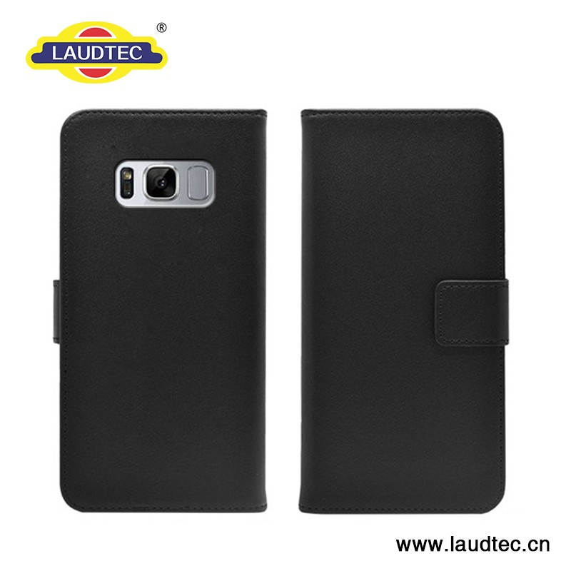 Leather flip wallet stand case for Samsung galaxy s8