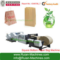 Cotton Handle Paper Carrier Bags Making Machine