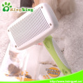 Self Cleaning Slicker Brush for Dogs or Cats, Automatic hair faded dog comb, 100% Pet Safe Stainless Steel Bristles