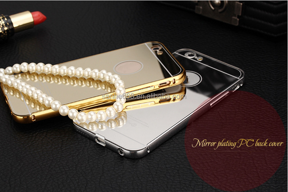 hot selling newest luxury mirror phone case cover for iphone 6 mirror case air aluminum bumper case for iPhone 6 plus
