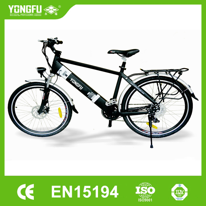 Male light weight Al alloy City E-Bike with Li-ion Battery integrated design