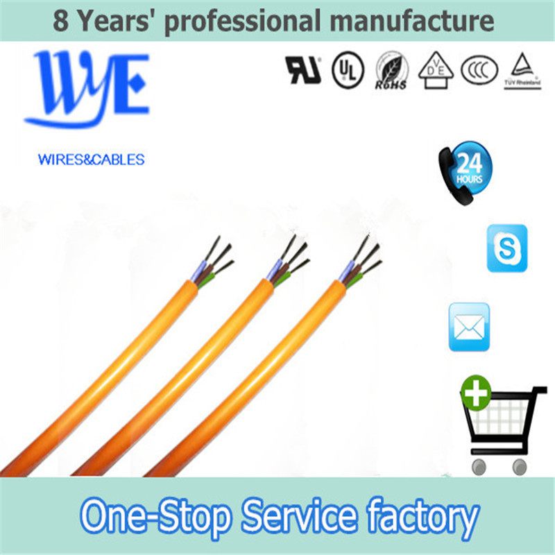 triple cores Flexible Silicone Rubber wire covered with silicone Cable