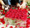 Handmade Acrylic Transparent Flower Box for 36 Roses
