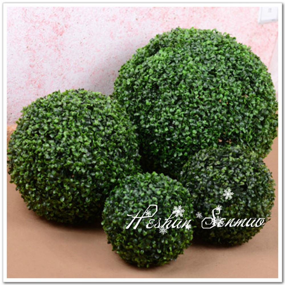 Plastic material simulation Milan grass ball for hotel wedding decoration
