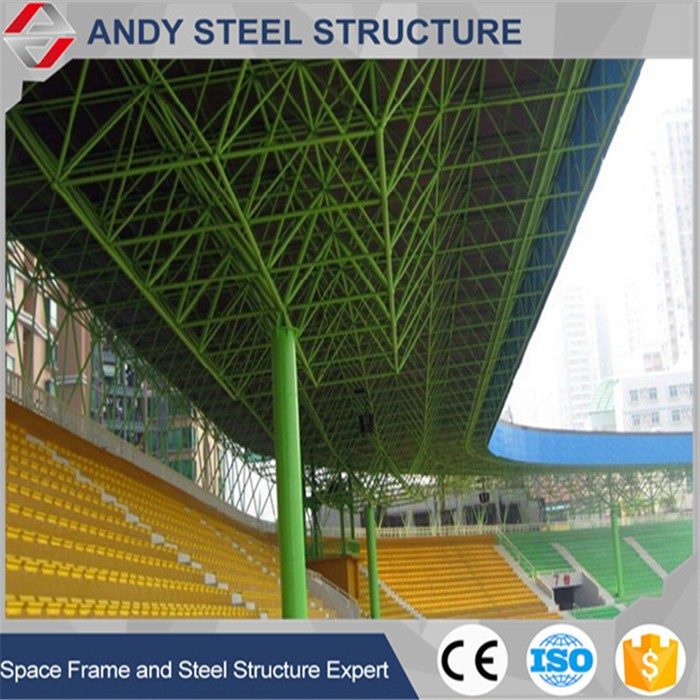 Steel Space Frame and Membrane Structure for Outdoor Stadium Bleacher Roof