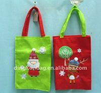 2011 popular cotton foldable christmas gift bag for shopping