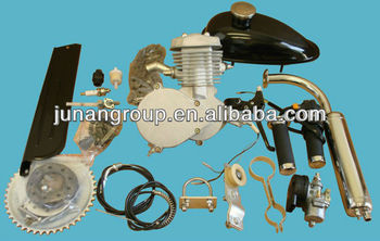80cc 2 stroke Bicycle Engine Motor Kit for Motorized Bicycle Bike white Body Of 2 stroke 80cc gas bicycle engine kit