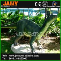 Lifelike Fiberglass Garden Decor Dinosaur Statue Model