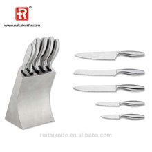 Chinese supplier wholesales stainless steel new design kitchen cutlery knife set