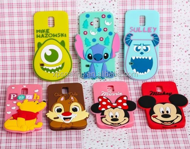 Big face silicone case back cover for Samsung Galaxy S5 stitch/suuley/mike/chips