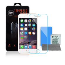 9H tempered glass For iphone X 8 4s 5 5s 5c SE 6 6s plus 7 plus screen protector protective guard film case cover