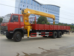 factory sale 210hp 6x4 dongfeng 12 ton truck mounted crane