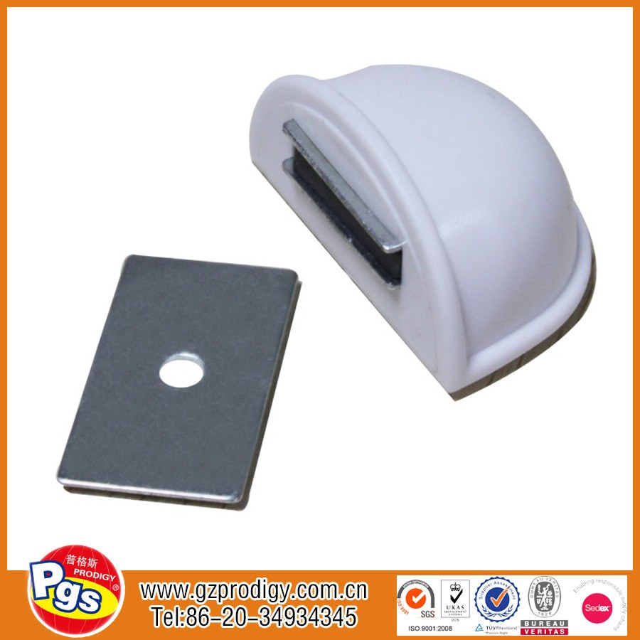 Hot sale SGS certificate white colour baby safety magnetic door stopper/stoper