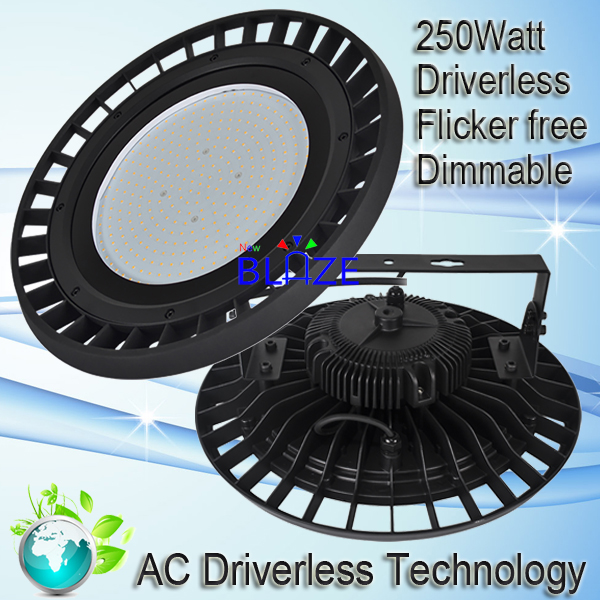 Driverless 250W 35000lm Highbay No Driver Dimmable UFO Led High Bay Lamps