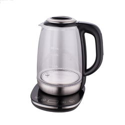 1.8L Heat Resistant Lead Free Restaurant Hotel Glass Electric Kettle With Timer